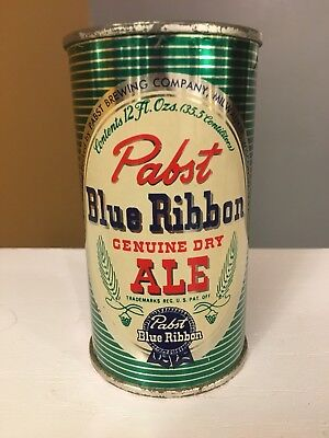 Stunning Pabst Blue Ribbon Genuine Dry Ale Vanity Flat Top Beer Can!!