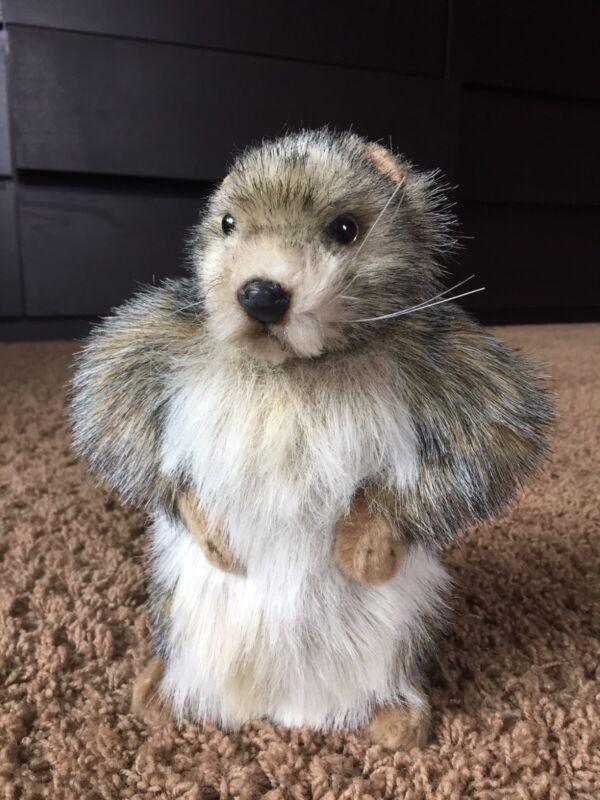 "Hansa Stuffed Animal, Marmot/Groundhog Baby, 8.5""height."
