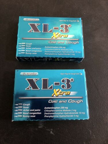 XL-3 Xtra Cold & Cough Medicine Non-Drowsy Fast Acting 12 c