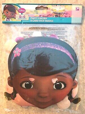 Kindergeburtstag Mottoparty Disney Doc McStuffins Pappmasken 6 Stück ()