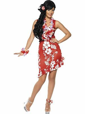 Hawaiian Tropical Beauty Ladies Fancy Dress Hen Party Costume Outfit Adult Sexy