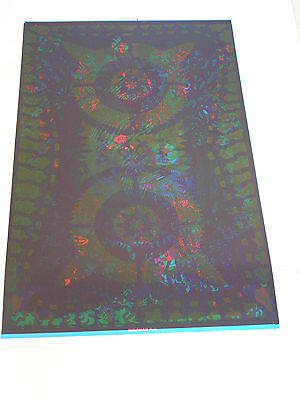 ETW PSYCHEDELIC Poster AQUARIAN OVERPRINTED CHESHIRE CAT & FLIGHT PATTERNS