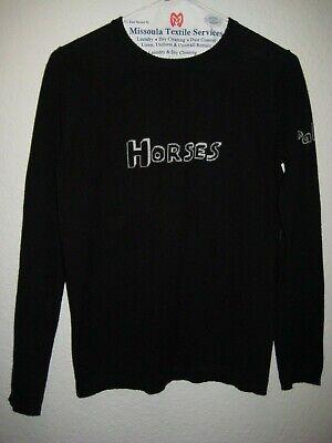 Bella Freud Horses Patti Smith Black Sweater Size S
