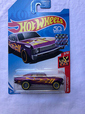 HOT WHEELS 2018 SUPER TREASURE HUNT '68 CHEVY NOVA / PROTECTO DAMAGED CARD