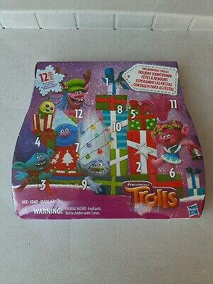 DREAMWORKS TROLLS HOLIDAY COUNTDOWN ~ ADVENT CALENDAR ~ 12 DAYS OF TOYS (NEW)