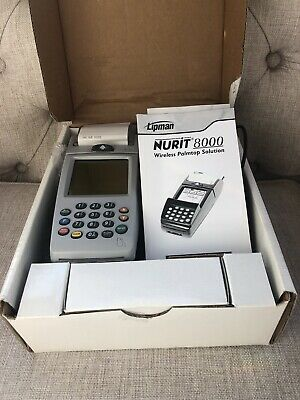 Lipman Nurit 8000 Wireless Portable Palm Credit Card Terminal Complete In Box