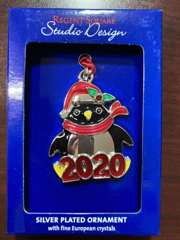 """Christmas Ornament, 2020, Penguin, 2""""x1-1/2"""", Regent Square, Studio Design"""