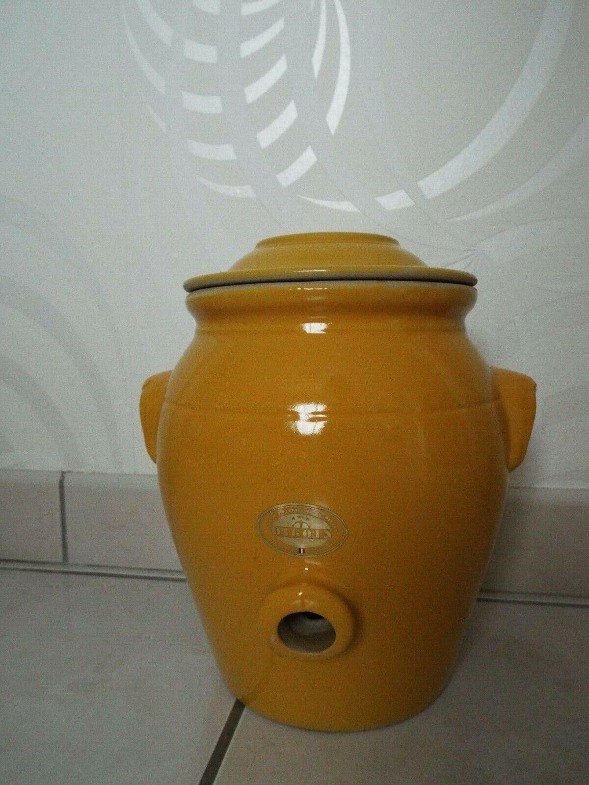 Vinaigrier en gré digoin 4l  jaune provence