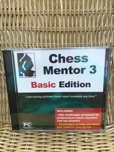Chess Mentor 3 - BASIC Edition - Great for Beginners - Software for PC - New Sea