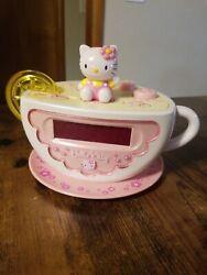 Hello Kitty Digital Tea Cup Alarm Clock & AM/FM Radio W/Lemon Slice Night Light