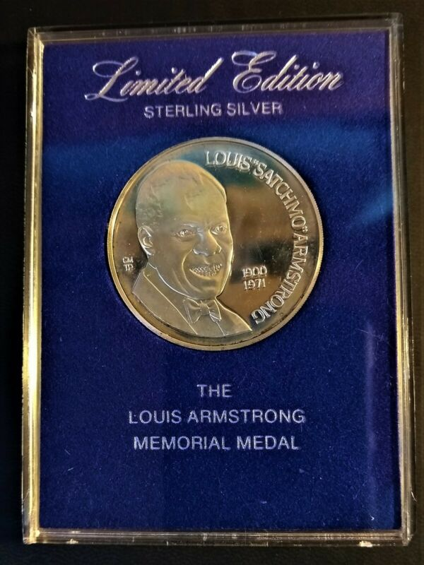 Limited Edition Louis Armstrong Sterling Silver ProofMemorial Medal