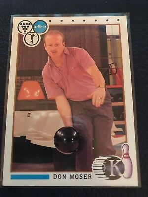 RARE 1990 Kingpins PBA Bowling #50  DON MOSER  MINT w/Top Loader