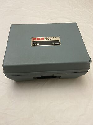 Rca Picture Tube Tester Wt-333a Cr Iii Vintage
