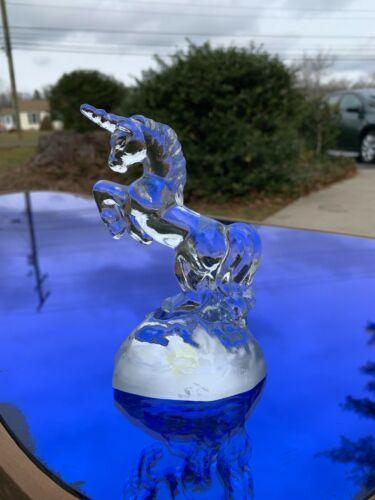 "Fenton Glass Unicorn 5.25"" Hand Made Circa 1993 Crystal Original Label NICE COND"