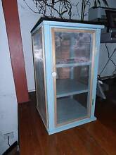 Cute blue wooden cabinet / cupboard / meat safe / food safe Tempe Marrickville Area Preview