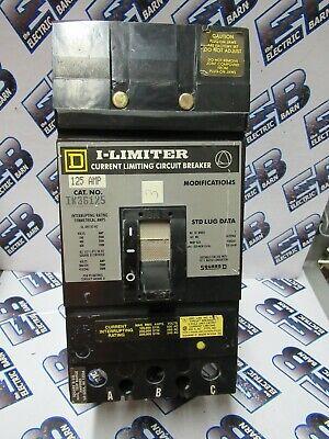 Square D Ik36125 125 Amp 600 Volt 3p Iline Breaker Grey- Recon Test Report