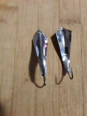 Luhr-Jensen Vintage Krocodile Chrome//Green Prism Spoon Fishing Lure Select size