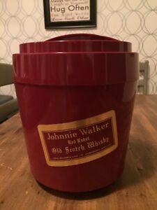 Vintage Ice Bucket Johnnie Walker Red Label Scotch Whisky