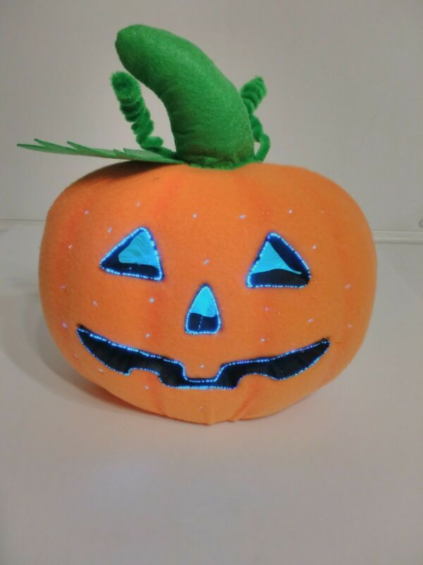 "Fiber Optic Pumpkin Medium 9"" Inch Battery Operated"