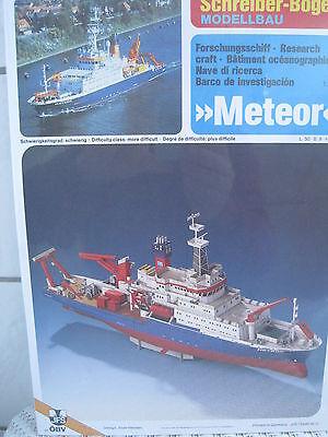 Meteor Forschungsschiff Boot Schiff Kartonbausatz *NEU* Schreiber- Bastelbogen