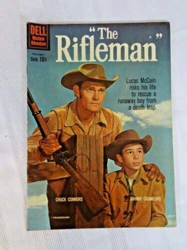 Dell Comics The RIFLEMAN Comic Book  #4  1960  gr 7.0 nice Connors Cover