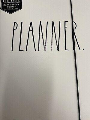 Rae Dunn 2021 Planner Agenda White Htf New Aug 2020-dec 2021