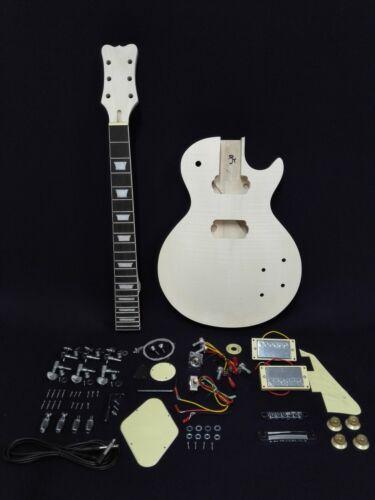 HSLPP 19380B Complete NO-SOLDERING Electric Guitar DIY, Set Neck, Basswood Body