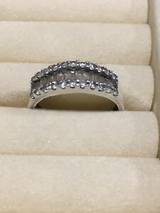 925 Stirling Silver and Cubic Zirconia ring Seaham Port Stephens Area Preview