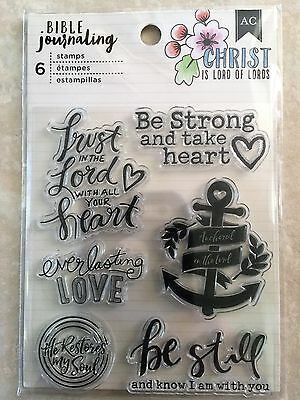 Bible Crafts (American Crafts BIBLE JOURNALING CLEAR BE STILL, TRUST IN THE LORD)
