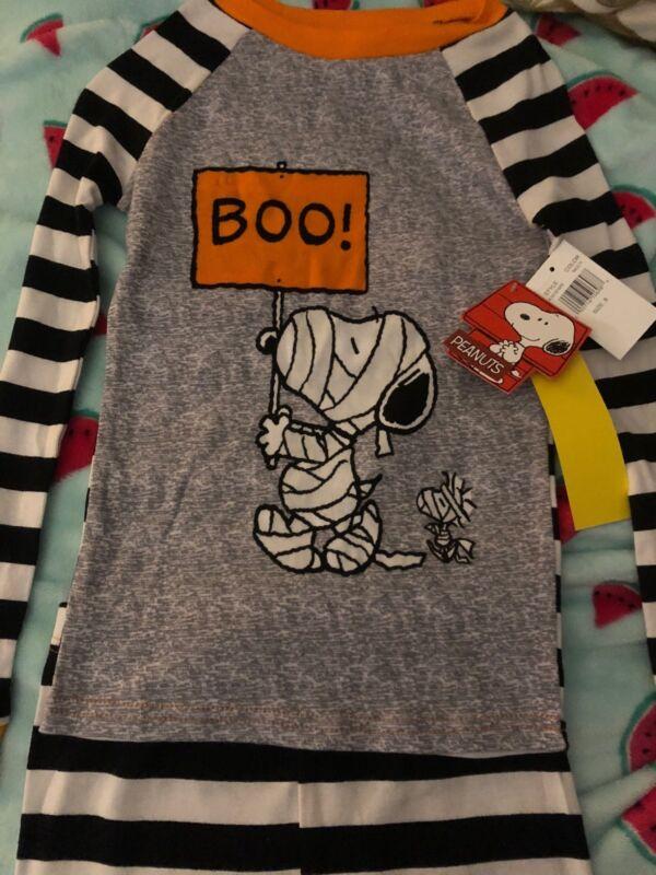 Peanuts Snoopy Halloween Long Johns Pajamas NWT Size 8 Kids! Woodstalk!