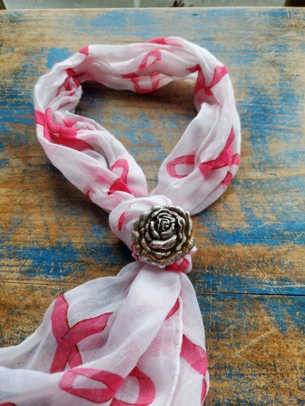 Peach rose floral scarf slide,  Wild Rag Scarf Slide, western accessories