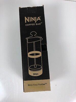 Ninja Coffee Bar Easy Frother Clear Glass Beaker Milk Press Foamer