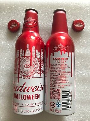 "2017 China Budweiser Beer ""Halloween"" 355ml Empty Aluminum Bottle"