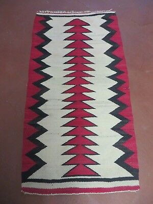 2' X 3'  Early NAVAJO Navaho  Wool RUG Blanket  Wall Hanging Rare