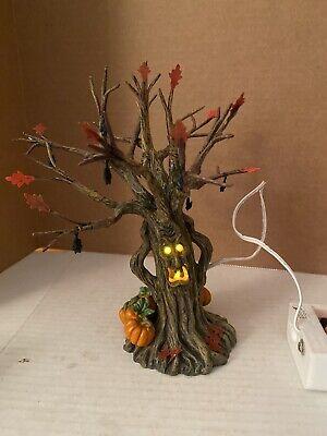 Department 56 Halloween Spooky Tree (Department 56 Snow Village Halloween  Lit Spooky Tree Excellent Cond With)