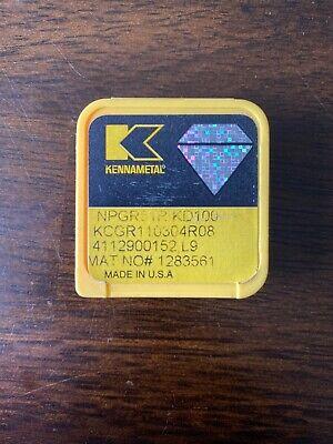 Kennametal Npgr51r Kd100 Grade Diamond Tip Profiling Insert Kcgr110304r08 New