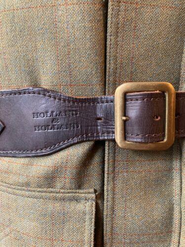 "Holland & Holland Leather Shotgun Cartridge Belt, 12ga, Size 34 - 38"""