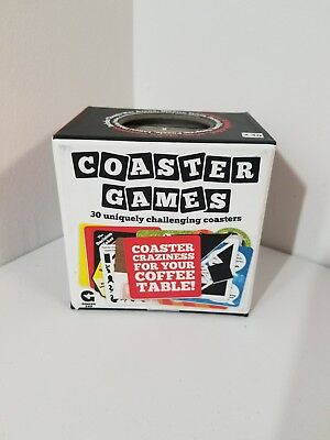 Drink Coaster Party Games 30 Coffee Table Cocktail Ice Breaker Activity (30 Table Games)