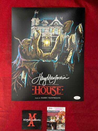 HARRY MANFREDINI AUTOGRAPHED SIGNED 11x14 PHOTO! HOUSE! JSA COA!
