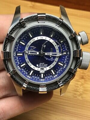 Invicta RESERVE GMT Bolt Model: 6436 Swiss Made Blue Watch Runs