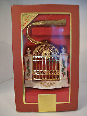 NIB Lenox 2008 Christmas Ornament First Year In Our New Home Garden Gate