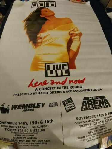 Diana Ross Live Here And Now Promo Subway Poster 60X40