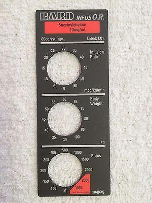 Baxter Bard Infus O.r. Smart Label Succinylcholine Label L01
