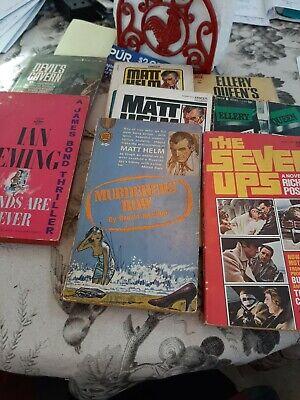 Ian Fleming James Bond , Matt Helm, Ellery Queen Paper Back Lot