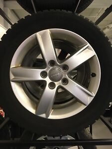 205/55/16 Gizlaved Nord Frost on Audi Rims