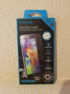 Aduro SHATTERGUARDZ Premium Tempered Glass Screen Protector Samsung Galaxy S5