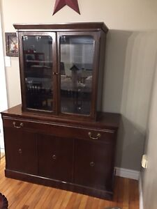 China cabinet, cherry with glass doors