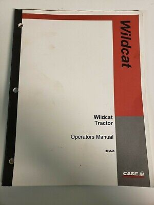 Steiger Wildcat Tractor Original Owner Operators Manual