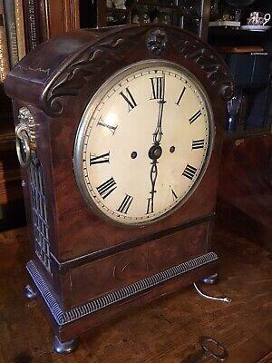 Antique Mahogany Bracket Clock with Pull-repeat