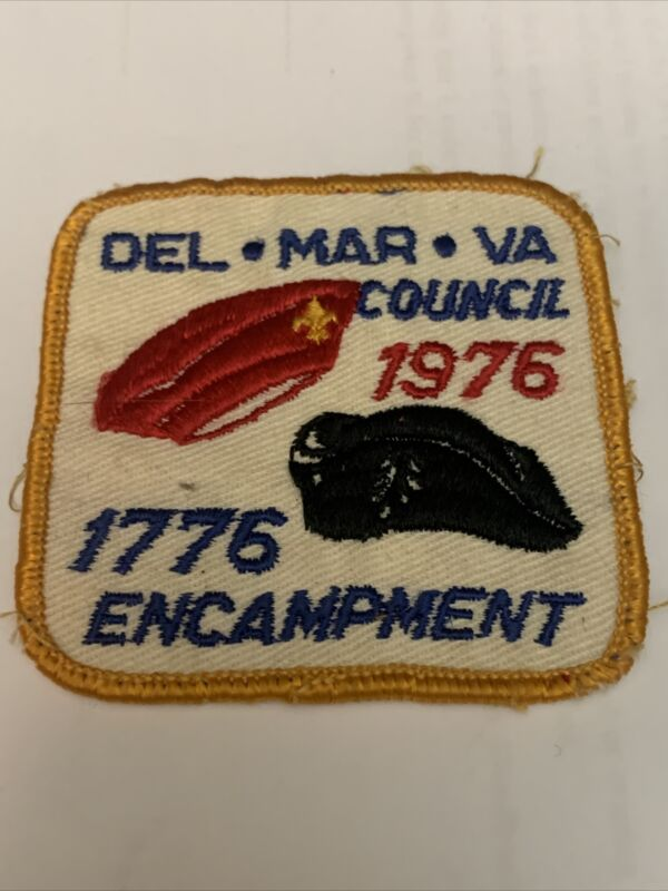 VINTAGE BSA BOY SCOUT OF AMERICA PATCH. VINTAGE 1976 DEL MAR VA 1776 ENCAMPMENT